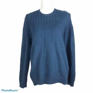 Ted Baker London blue cable knit sweater size L